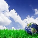 Going Green Earth On Grass