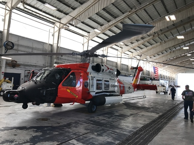 Rescue Helicopter In Hanger